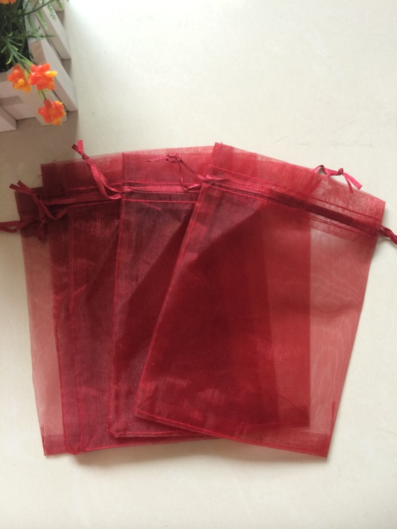 Free Shipping 200pcs/lot Burgundy Bags 13x18cm Christmas  Wedding Gift Bags Jewelry Bags Gift packing Pouches