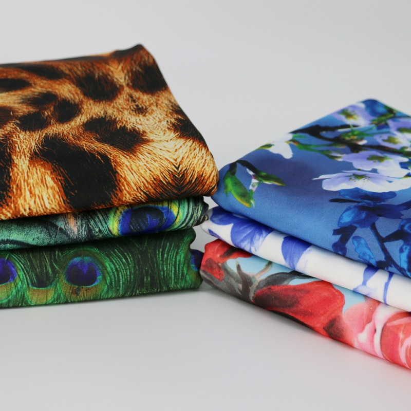 1 yarda * 150cm DISEÑO DE ÁFRICA suave fibra de leche material tejido vestido leggings 4 vías stretch tela flor