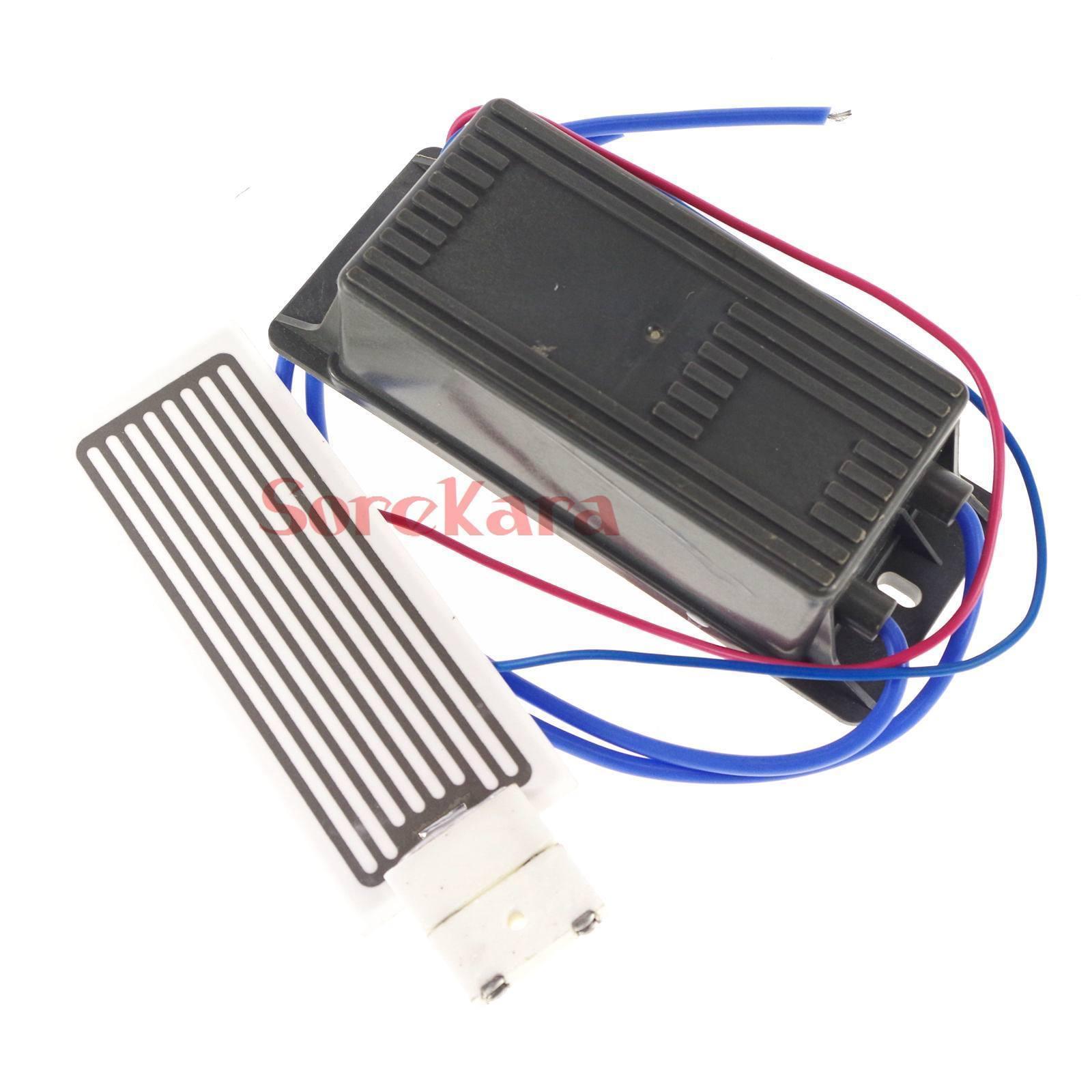 Output 5g/h 10g/h 12VDC 110VAC 220VAC Ceramic Plate Circuit Board Ozone Generator Air Purifier Kit 16KHZ Power + Plate
