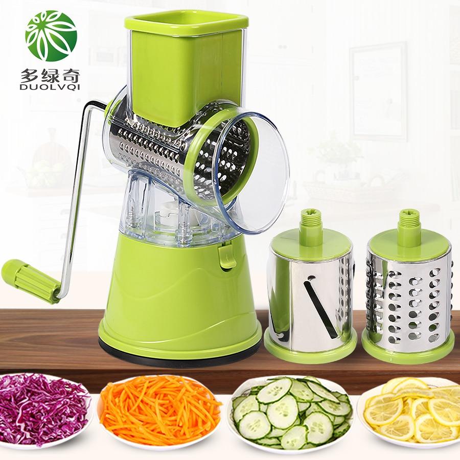 Duolvqi manual cortador de legumes slicer acessórios cozinha multifuncional redondo mandoline slicer queijo batata cozinha gadgets