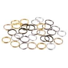 200 pcs/lot 4 6 8 10 12 mm ouvert anneaux de saut Double boucles couleur or fendu anneaux connecteurs pour la fabrication de bijoux fournitures bricolage