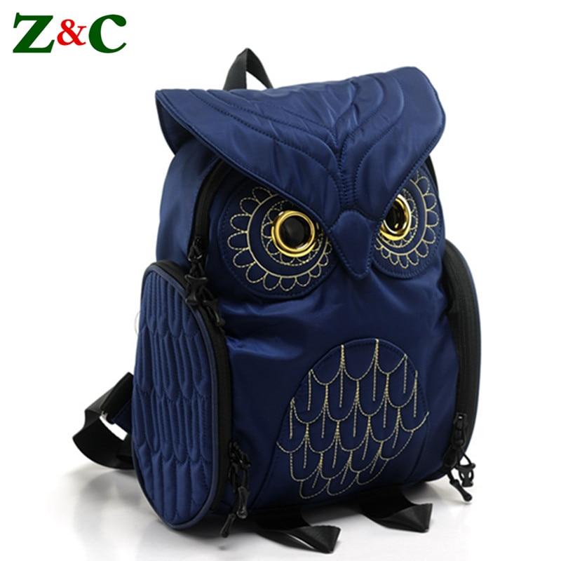 Элегантные рюкзаки с совой, качественные женские школьные ранцы с мультипликационным рисунком для девочек-подростков, роскошные Брендовые...