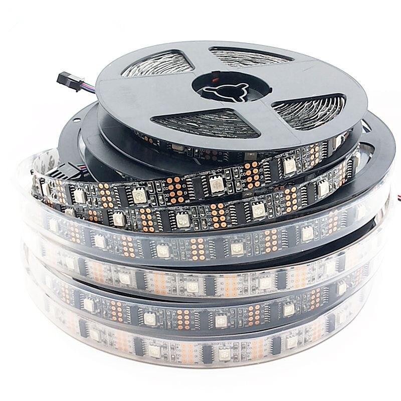 5 M/rollo DC5V WS2801 smd 5050 rgb tira direccionable individualmente 32 leds/m de desarrollo Arduino ambilight TV 1 DE control ic 1 led