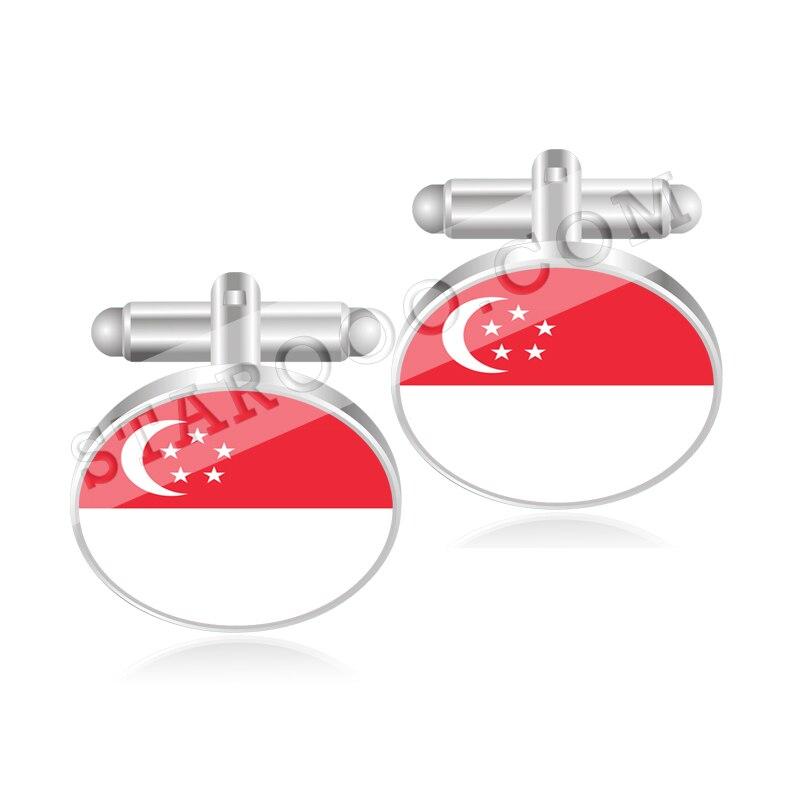 Gemelos con bandera de Singapur, Eslovaquia, Eslovenia, Islas Salomón, Somalia, Sudáfrica