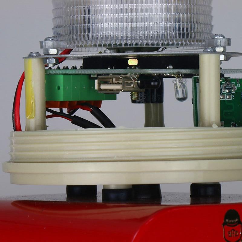Industrial Wireless Microwave Motion Sensor Audible Visual Alarm Device LED Flashing Beacon Light Siren with USB Port enlarge