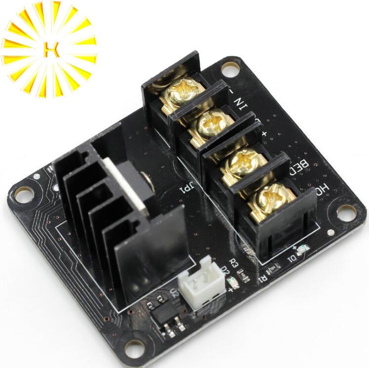 3D impresora de cama caliente módulo de potencia/foco MOSFET módulo de expansión Inc 2pin plomo con Cable para Anet A8 A6 A2 rampas 1,4 conector