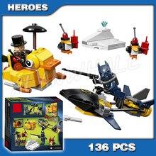Nouveau 2016 Bela 10225 super-héros pingouin Face à des blocs de construction étonnants Batman véhicule canard bateau Compatible avec Lego