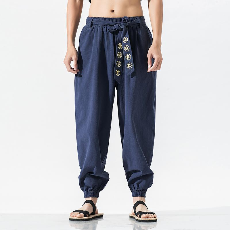 Streetwear Harem Pants Online Store Street Workout Bottom Traditional Chinese Men Clothing Kungfu Pl