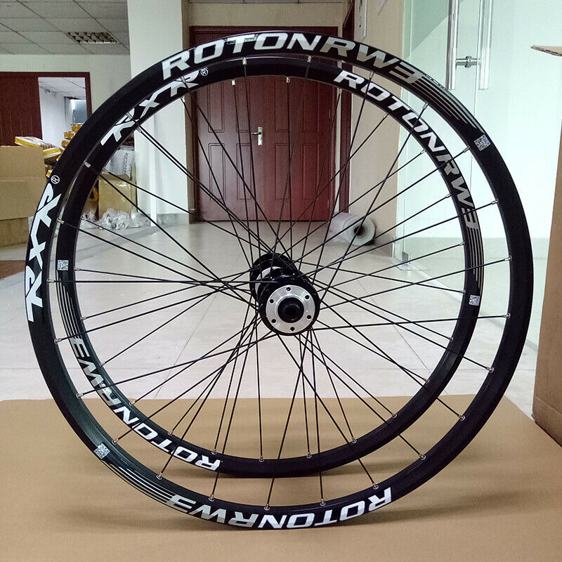 "RXR 26""Mountain Bike Wheels MTB Bicycle Disc Brake Wheelset 7-11 Speed Front Rear Rim Wheelsets Fit Shimano SRAM Cassette"