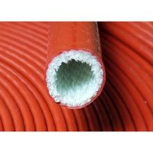 1Meter 4-130mm Dia Red High Temperature Resistant Fire Retardant Casing Pipe Thicken Insulation Silicone Fiberglass Tube