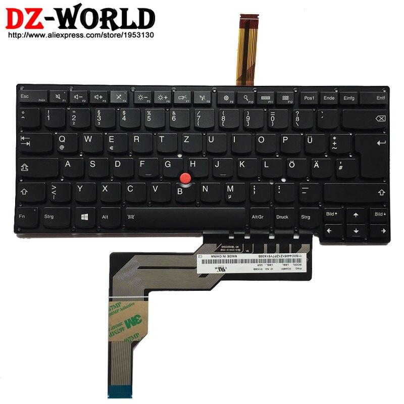 Nuevo teclado DE retroiluminación alemán Original para Lenovo Thinkpad S3 S431 S3 S440, Contraluz alemán tatatur 04Y2286 0C44851