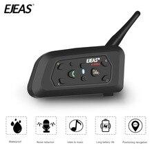 EJEAS V6 Pro intercomunicador del casco auricular Bluetooth micrófono de 6 corredores 1200m Música GPS Interfono Moto
