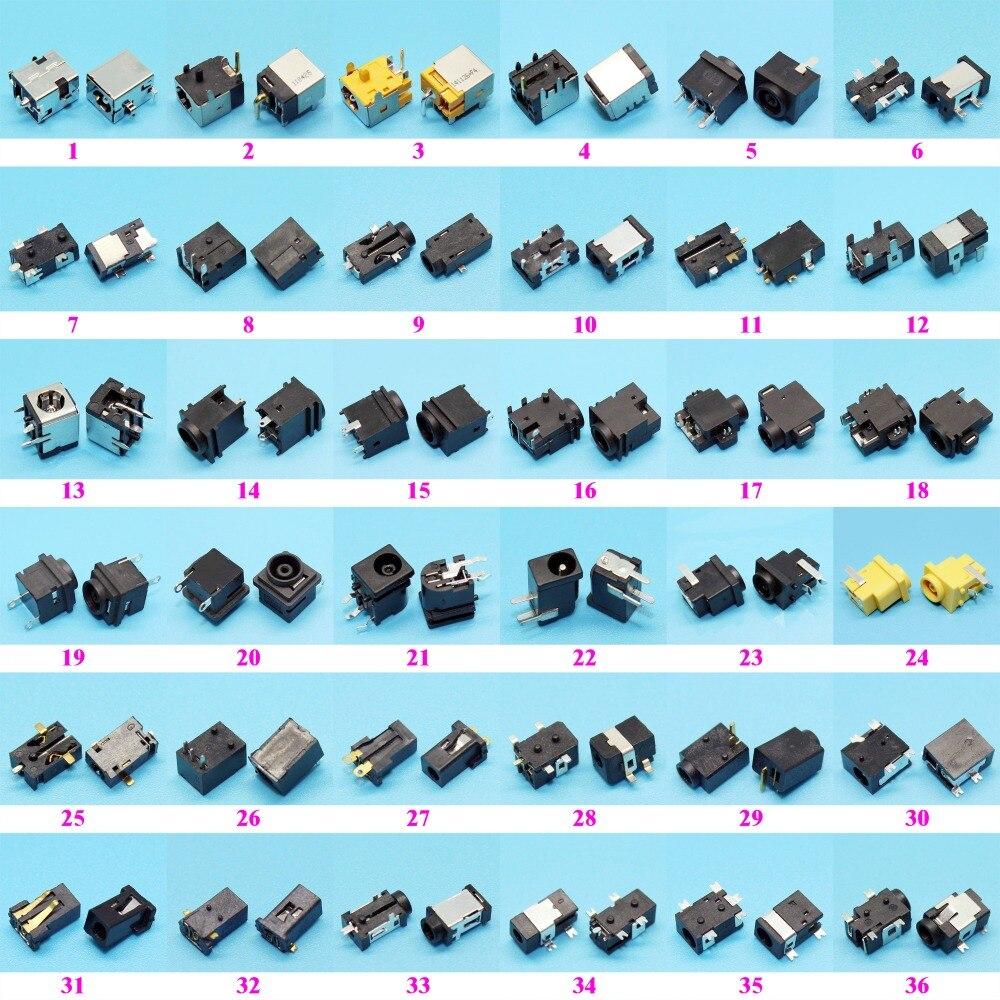 Paquet déchantillon de 72 modèles   Connecteur de prise dalimentation cc pour tablette PC mi-portable Samsung/Asus/Acer/HP/Toshiba/Dell/Sony/Lenovo, 144 pièces