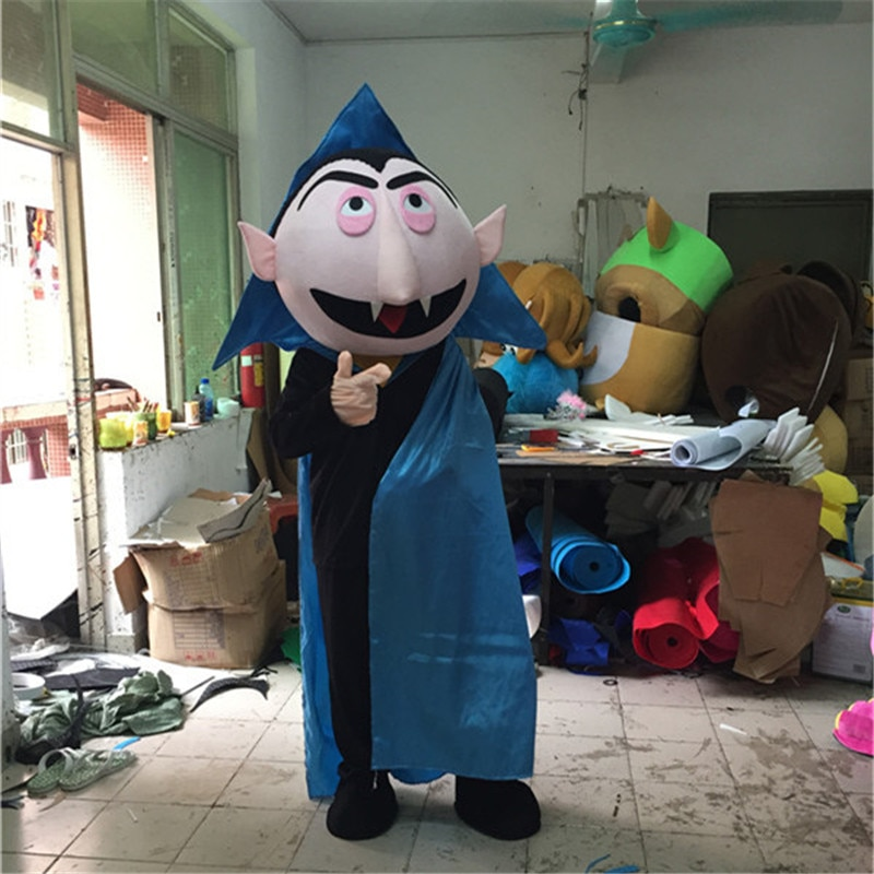 Halloween diablo mascota Conde vampiro traje Conde Drácula mascota Tema de Cosplay disfraz de Carnaval de mascota vestido de fiesta