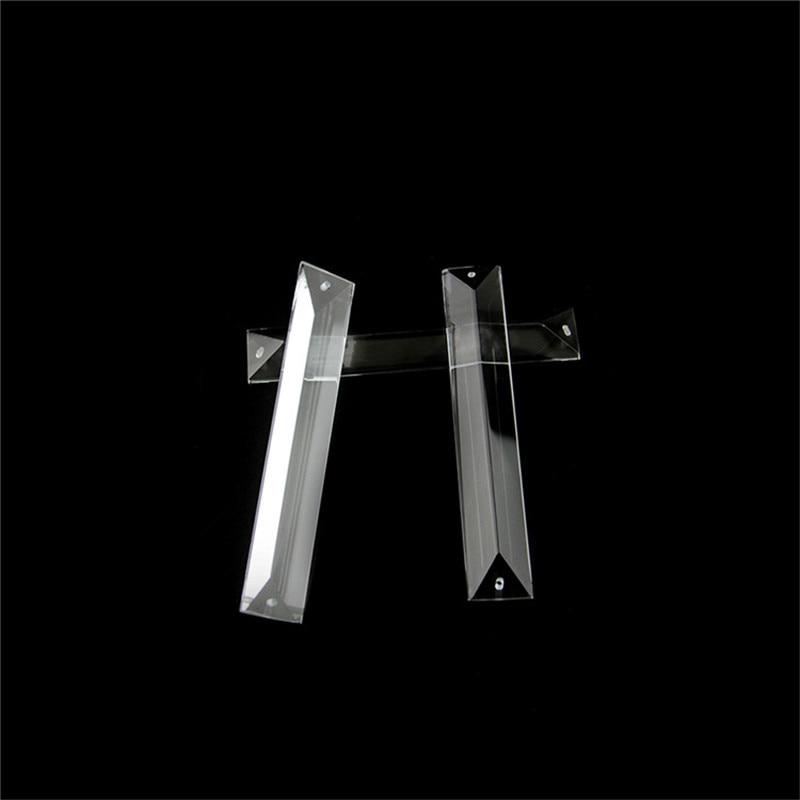 Adornos de araña 20 unids/lote 22X100mm piezas de cristal de Color transparente en 2 agujeros colgante de cristal prisma gota