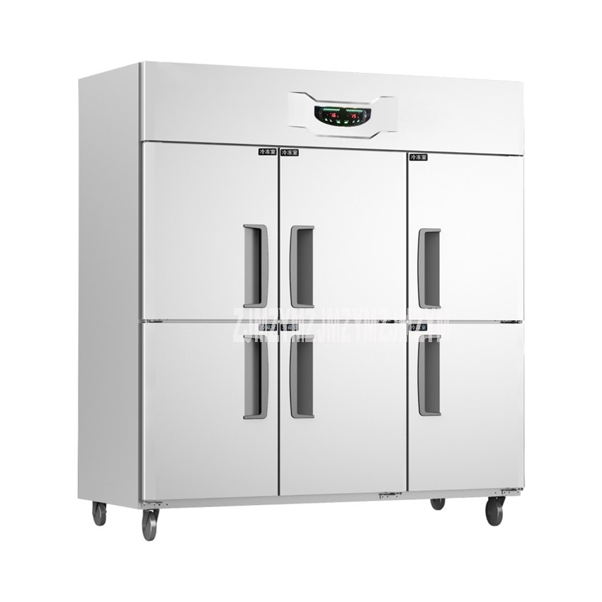 Commercial Use 6 door Upright Freezer Refrigerator Two Temperature 1600L Stainless Steel Home kitchen Equipment GT1.6L6ST 520W