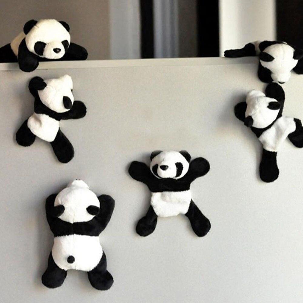 Fridge Magnet Cute Soft Plush Panda Refrigerator Sticker Funny Cartoon  Animal  Home Office Gift Souvenir Decor F75