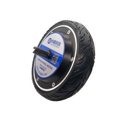 Moteur de roue robot   miniature de 6.5 pouces, type de roue, moteur de Servo intégré, codeur photoélectrique 1024 lignes, pilote CAN/RC en option