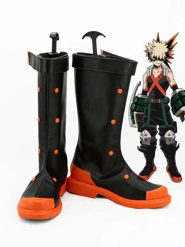 Ботинки для костюмированной вечеринки My Hero academic Katsuki Bakugo; Мужские туфли для костюмированной вечеринки; Вечерние туфли; Ботинки на заказ