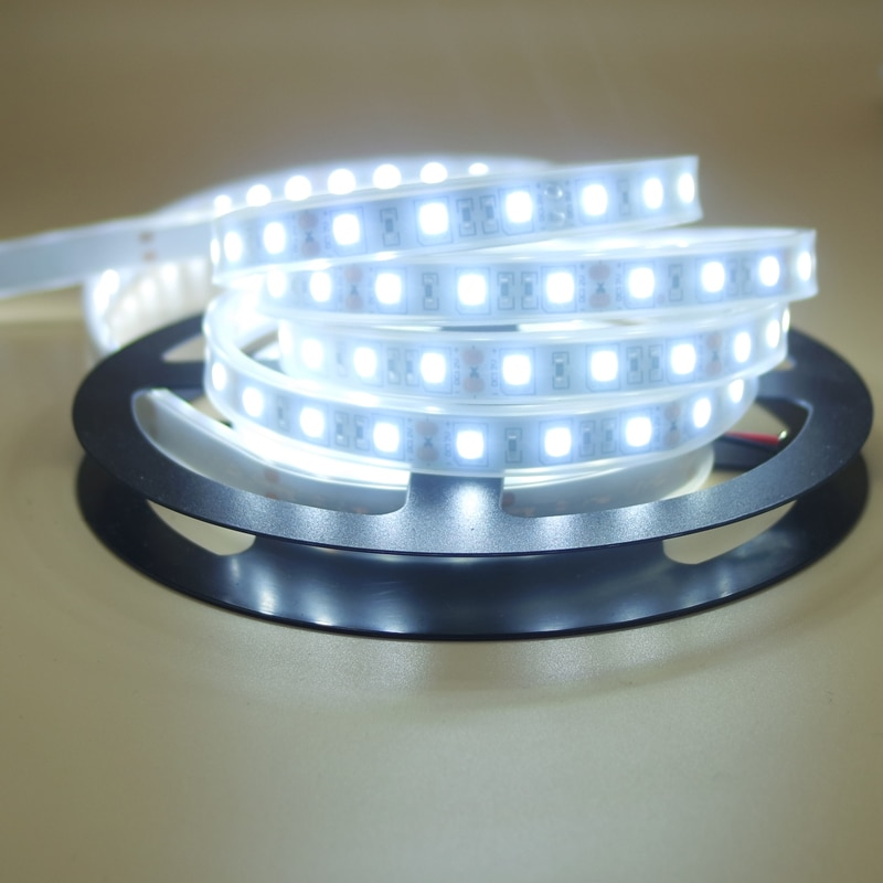 Tira de luz led Flexible 5050 tubo de silicona impermeable ip67 12V RGB blanco cálido blanco rojo azul verde cinta Lámpara de cuerda 1/2/3/4/5 m