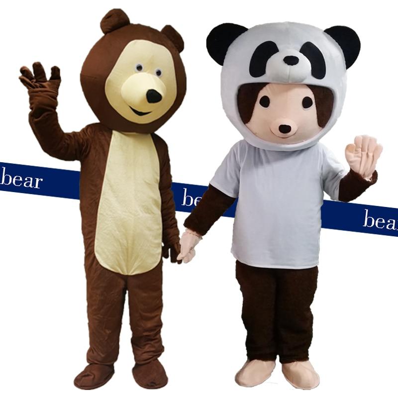 Oso disfraz de mascota Panda lindo Oso de dibujos animados de apariencia con el Caballero uniforme de adultos de tema de Cosplay disfraz de Carnaval de Mascota