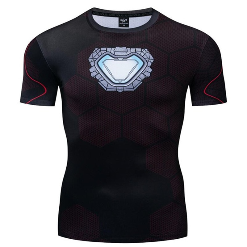 Spiderman iron Man Camiseta Superman hombres 3D impreso Marvel camiseta Homme Fitness camisetas compresión camiseta disfraz