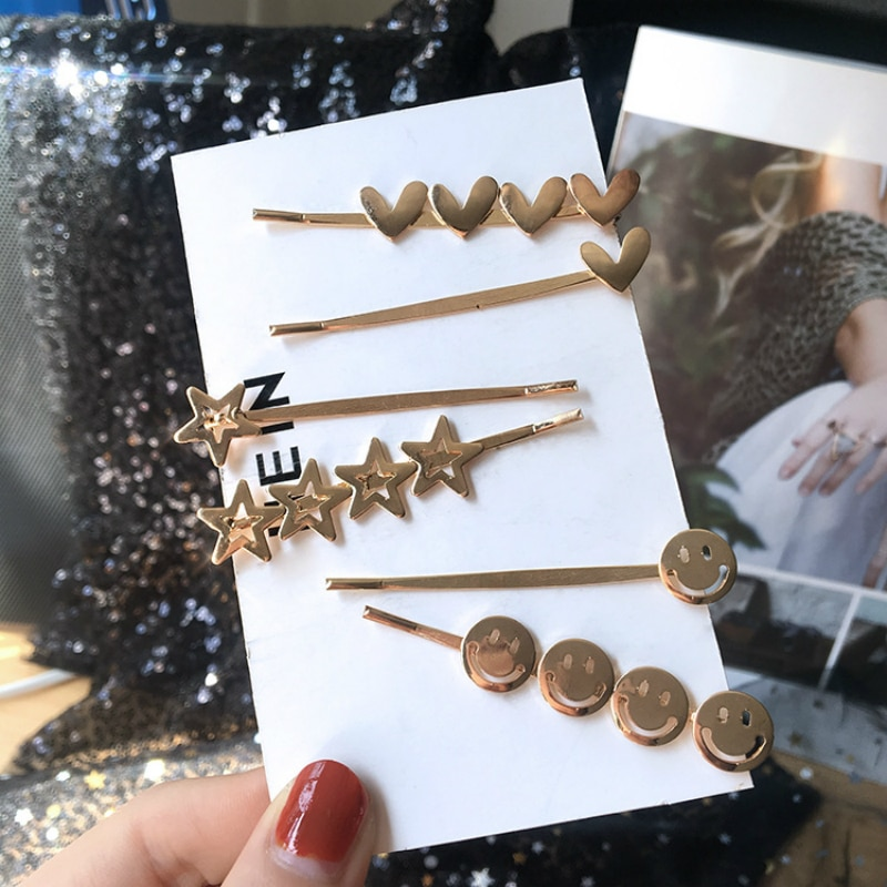 Joyería coreana nueva moda salvaje Metal palabra Clip LATERAL chica lindo flequillo Clip accesorios de pelo barroco Coroa decoración de la boda