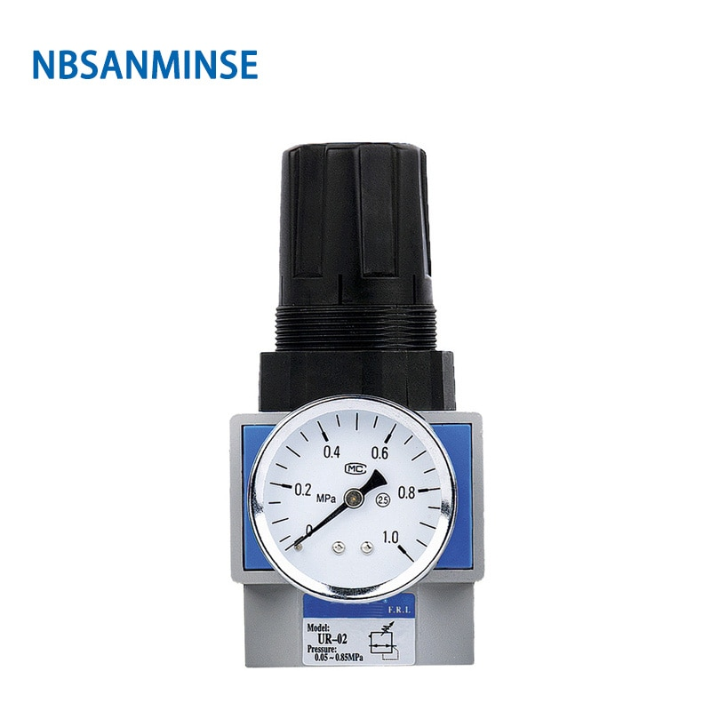 NBSANMINSE UR / R  Air Regulator 1/4 3/8 1/2 3/4 1 Air Source Treatment Unit Piston Type Regulator Air Valve Precision Regulator