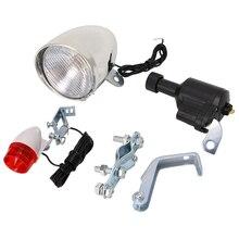 (QILEJVS) accessoires de feu arrière de tête de générateur de Dynamo de Friction de bicyclette de vélo motorisé APR14_17