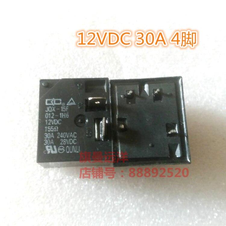 JQX-15F 012-1H6 12V Relé 30A 4-pin 12VDC
