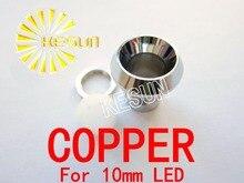 Livraison gratuite 10 pièces x 10mm prise de support LED en cuivre pour Diodes 10mm LED