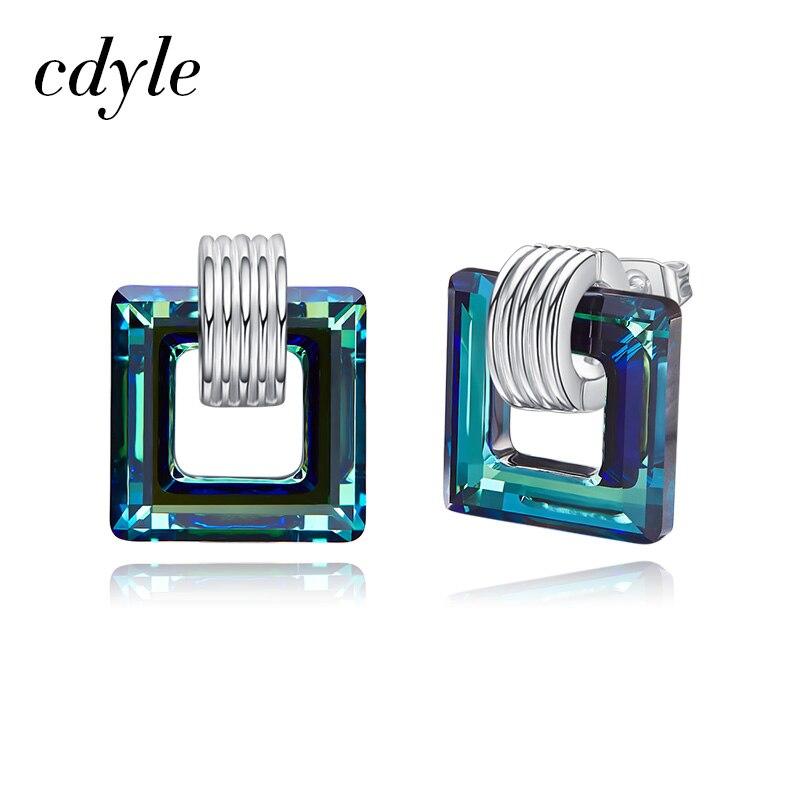 Cdyle embellecido con cristales moda pendiente femenino Diamante de imitación volcánico Boucle Doreille Pendientes Mujer