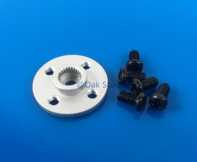 Bocina Servo de Metal, Servo brazo, stents de disco pequeños del volante de Metal para MG995 MG996R etc. estándar adecuado para el tamaño estándar