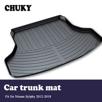 chuky for nissan sylphy b17 2012 2013 2014 2015 2016 2017 2018car cargo rear trunk mat boot liner tray anti slip mat accessories