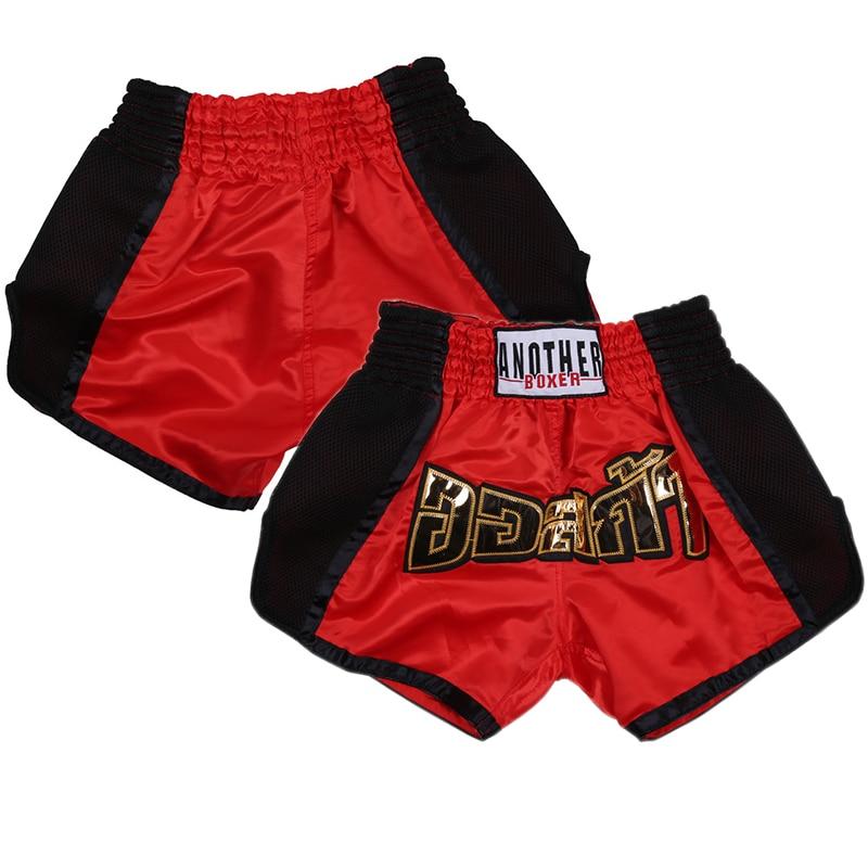Men's Pants Printing MMA Shorts kickboxing Fight Grappling Short Muay Thai Boxing Shorts Clothing Sanda Breathable Kids Sport