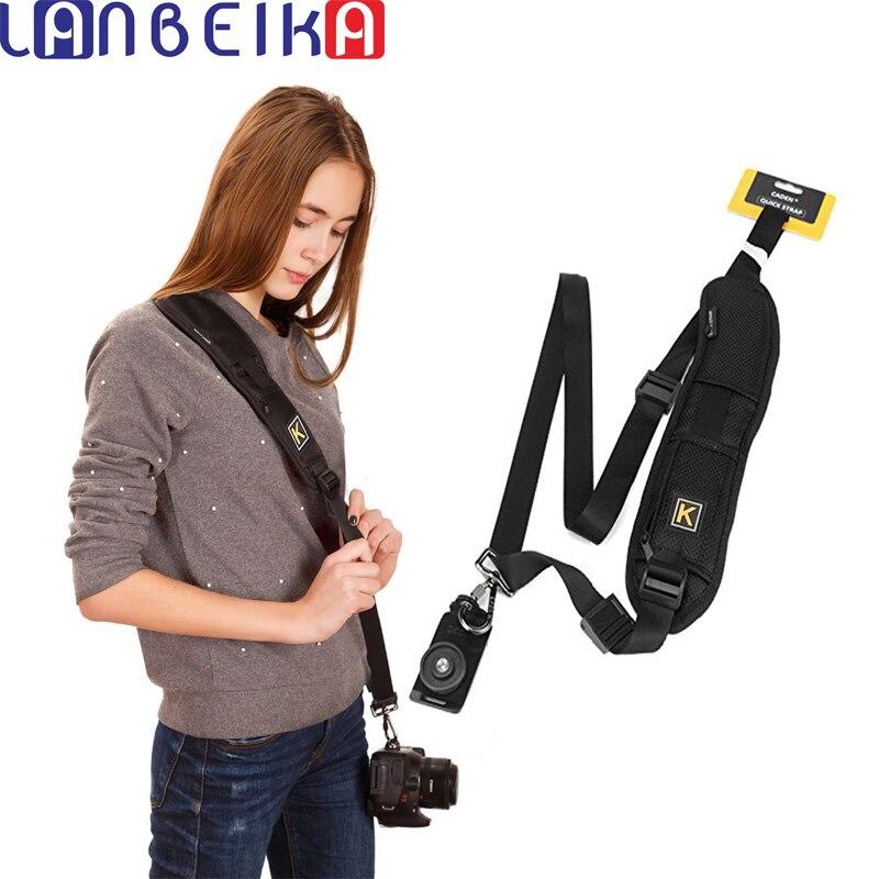 LANBEIKA K Type Single Shoulder Camera Sling Belt Strap + Pad for Canon for Nikon for Sony Pentax DSLR SLR Camera Quick Rapid