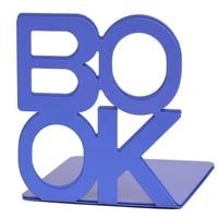 1 pair book alphabet shaped metal bookends support holder home office desk book rack stand book organizer 140x125x130mm