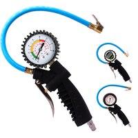 1pcs 0-200psi 0-16bar Digital Tyre Pressure Gauge Tyre Tire Air Pressure Inflator Gauge Meter Tester Manometer