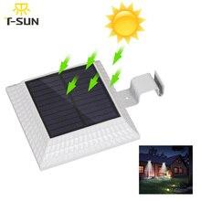 T-SUNRISE 12 LEDs Solar Gutter Light with Motion Sensor Outdoor Lighting Spotlight Solar IP44 Waterproof For Street Yard Path