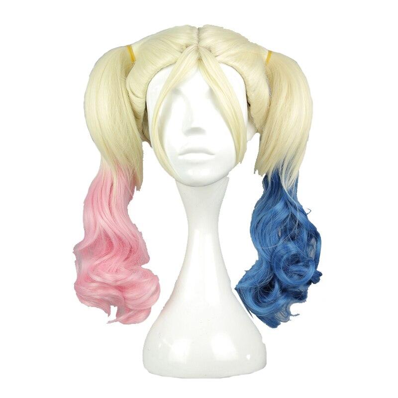 Термостойкий синтетический Плетеный волос MCOSER, парик для косплея из 100% высокотемпературного волокна, Харли Куинн, куинзель, постоянный ток