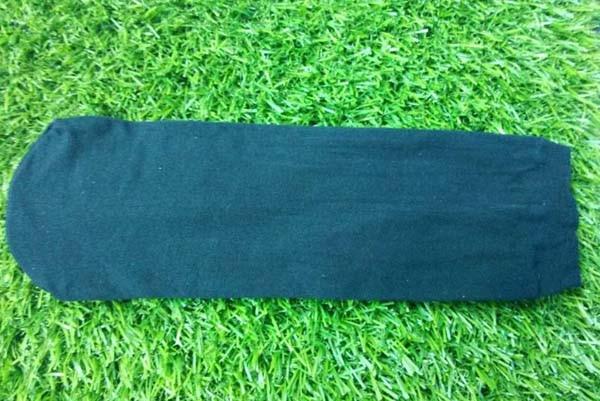 100% polyester BLACK try on socks  one time use socks  disposable socks