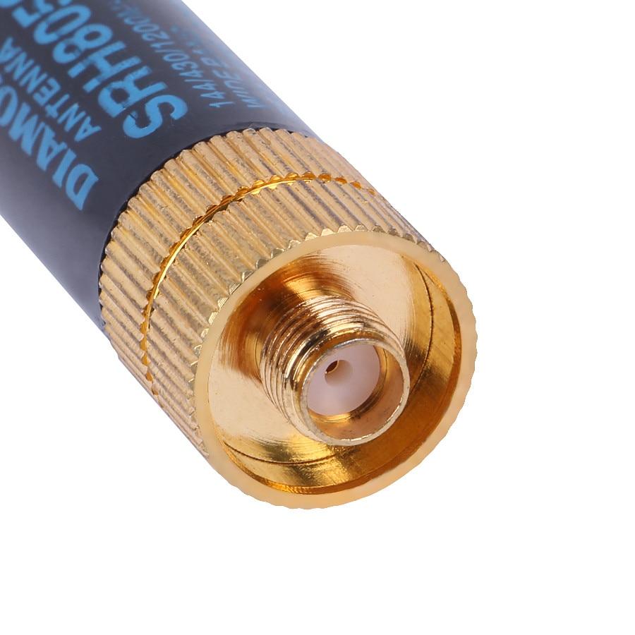 Yaesu de SRH805S SMA-F hembra antena 5cm de doble banda VHF/UHF 144/430MHz para $TERM impacto Baofeng UV-5R BF-888S Radio portátil SRH805S