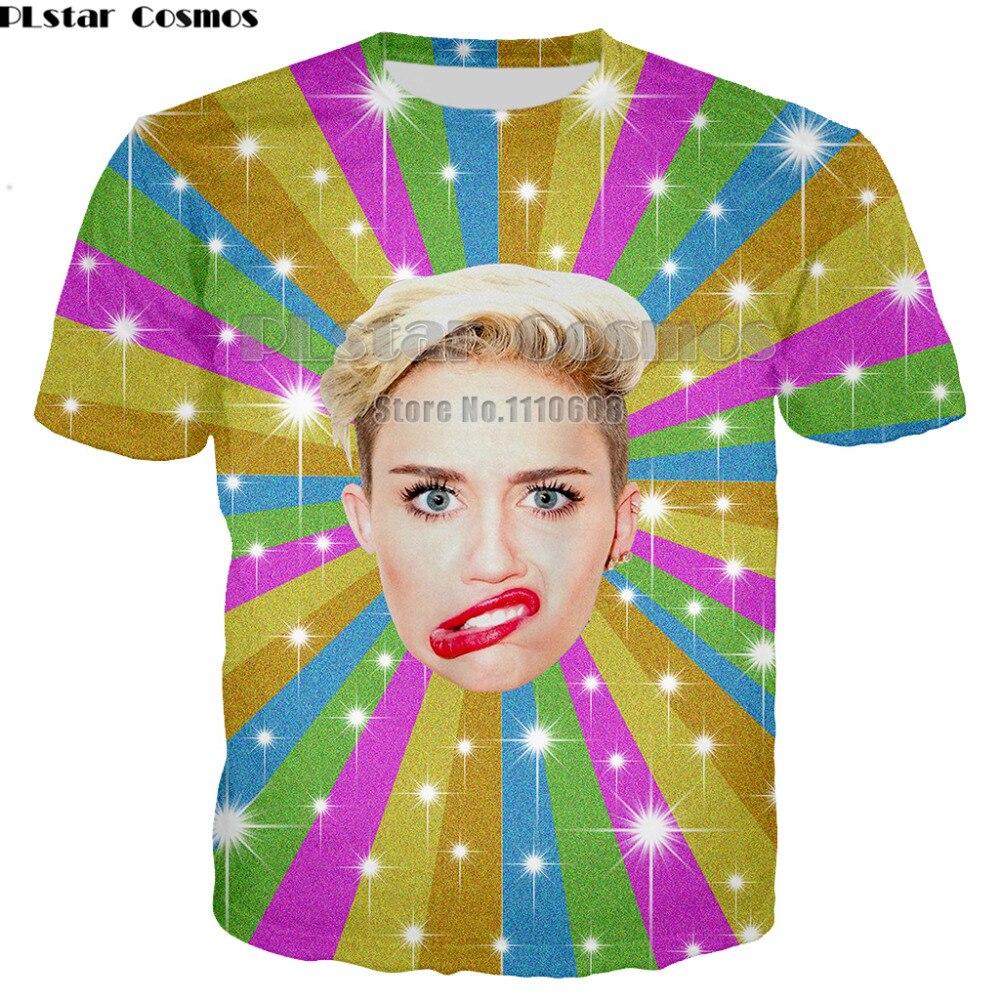 PLstar Cosmos mode T-Shirt Miley Cyrus Arizona coloré 3D T-Shirt femmes hommes dété Style vêtements de sport hauts T-Shirt