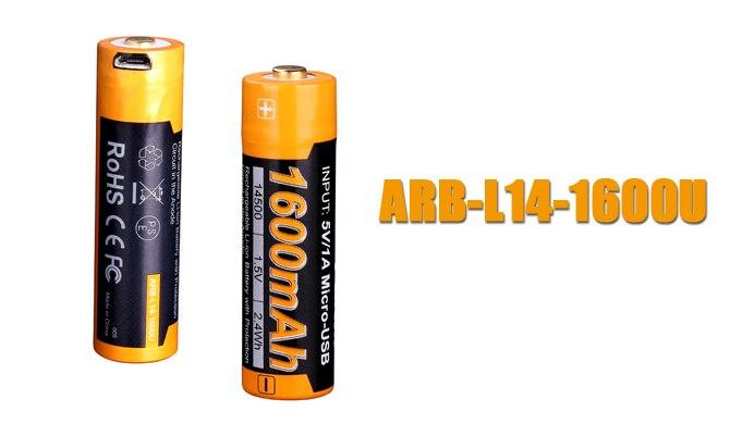 Fenix ARB-L14-1600U Micro-USB charging port charging AA Short circuit protection battery