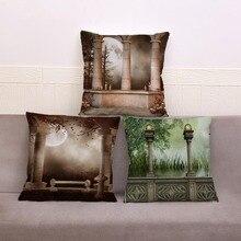 Готический волшебный живописный чехол для подушки с принтом, супер мягкая короткая плюшевая наволочка 45*45, наволочки для дивана, домашний д...