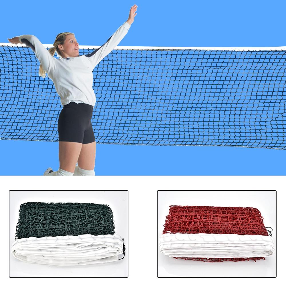 6.1mX0.75m Professional Sport Training Standard Badminton Net Outdoor Tennis Net Mesh Volleyball Net Exercise Drop Shipping