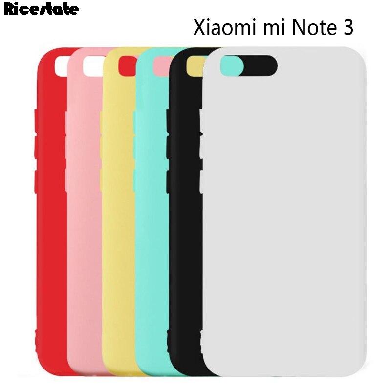 Funda de silicona para Xiaomi Mi note 3, de 5,5 pulgadas, Ultra fina, mate, con flecos, caramelo, Color sólido, para Xiaomi Note 3 note 3