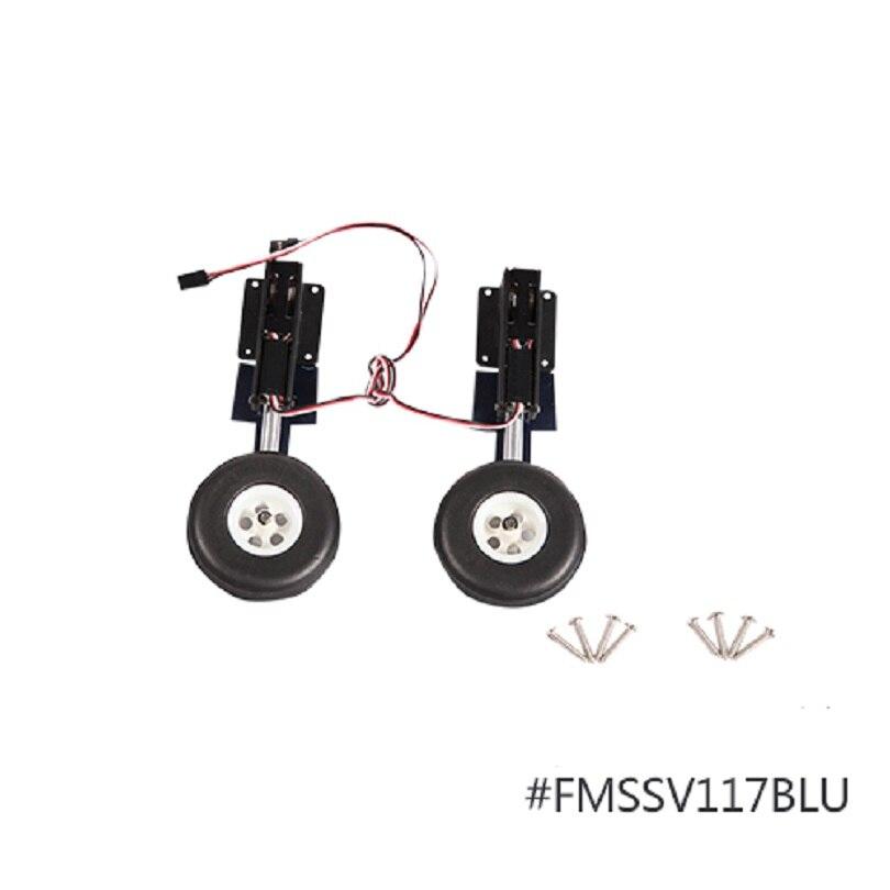 FMS 1400 milímetro F4U Corsair V3 Frente Sistema de trem de Pouso Principal com 2 FMS Retrai Instalado FMSSV117BLU Modelo DO Avião do RC peças de avião