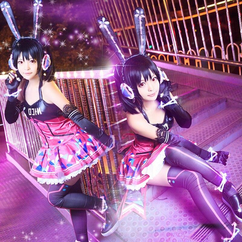 Disfraz de Cosplay con luz LED para todos los miembros, el amor en vivo, juego de Internet, despertar brillante, Eli, para Navidad