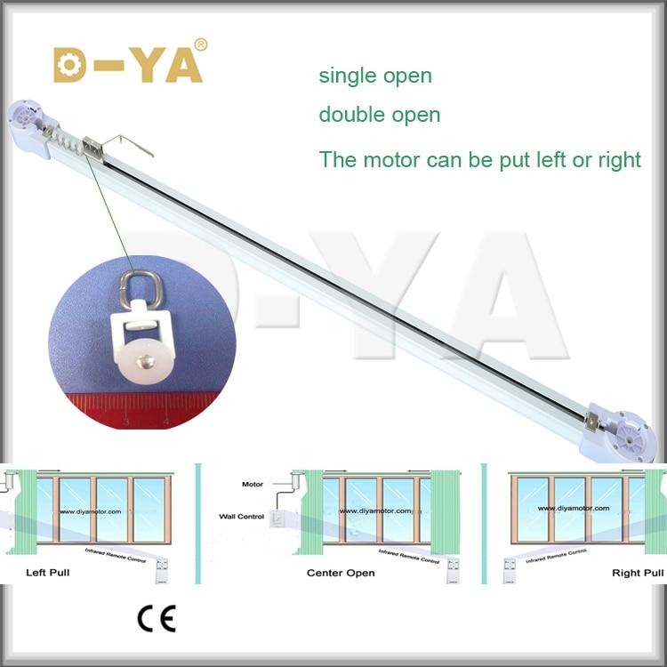 1 M Width window electrical  aluminum curtain motor track